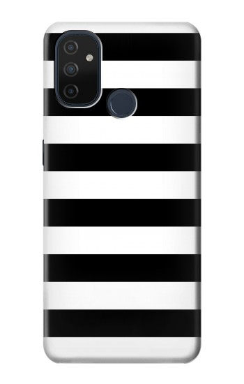 Printed Black and White Striped OnePlus Nord N100 Case