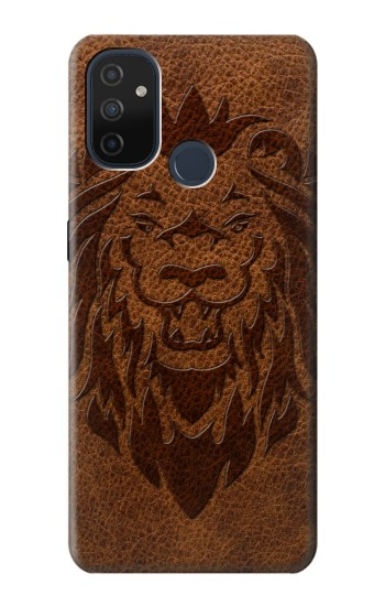 Printed Leo Tattoo Brown Leather OnePlus Nord N100 Case