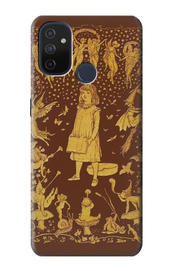 Printed Brown Fairy Book Cover OnePlus Nord N100 Case