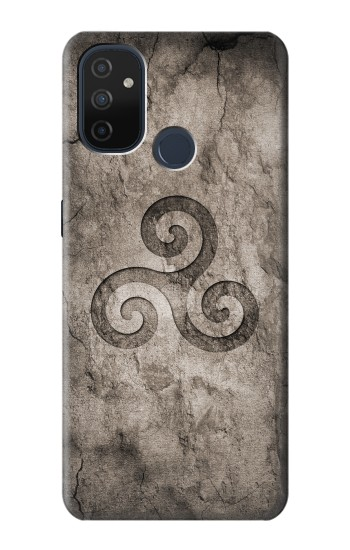 Printed Triskele Symbol Stone Texture OnePlus Nord N100 Case