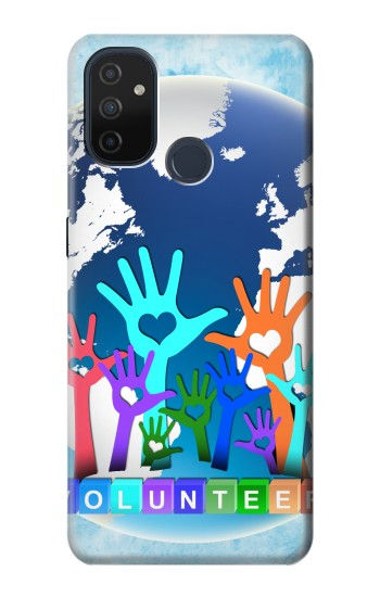 Printed Volunteers Make The World Go Round OnePlus Nord N100 Case