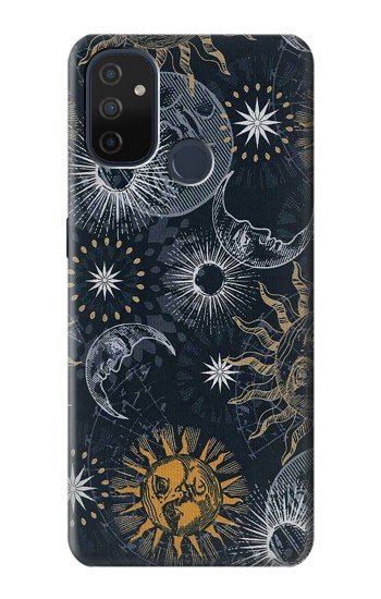 Printed Moon and Sun OnePlus Nord N100 Case