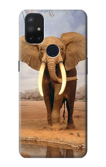 Printed African Elephant OnePlus Nord N10 5G Case