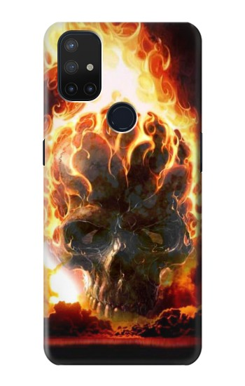 Printed Hell Fire Skull OnePlus Nord N10 5G Case