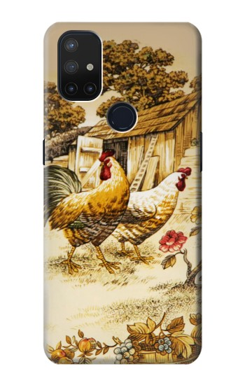 Printed French Country Chicken OnePlus Nord N10 5G Case