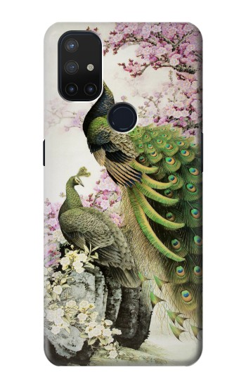 Printed Peacock Chinese Brush Painting OnePlus Nord N10 5G Case
