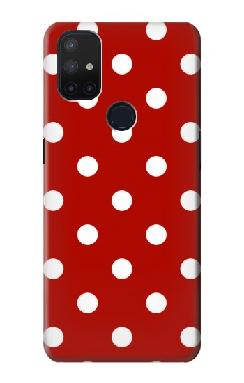 Printed Red Polka Dots OnePlus Nord N10 5G Case