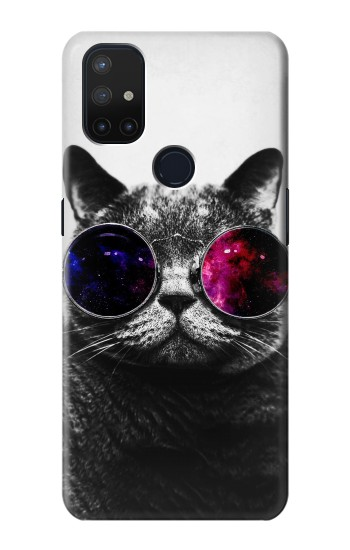 Printed Cool Cat Glasses OnePlus Nord N10 5G Case