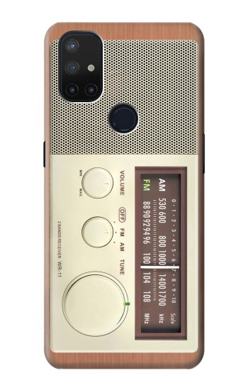 Printed FM AM Wooden Receiver Graphic OnePlus Nord N10 5G Case