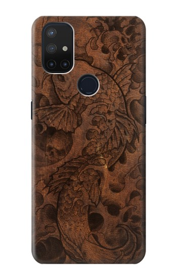 Printed Fish Tattoo Leather Graphic Print OnePlus Nord N10 5G Case