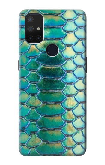 Printed Green Snake Scale Graphic Print OnePlus Nord N10 5G Case