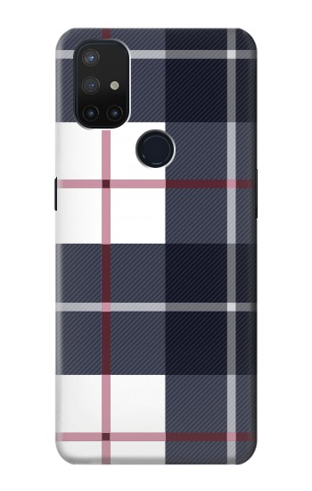 Printed Plaid Fabric Pattern OnePlus Nord N10 5G Case