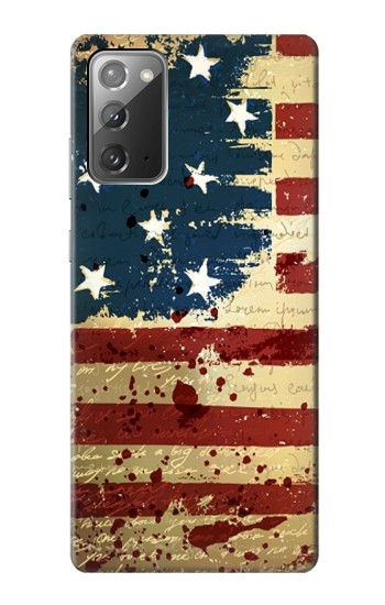Printed Old American Flag Samsung Galaxy Note 20 Case