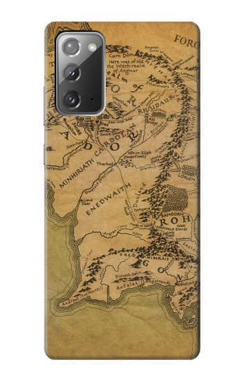 Printed The Lord Of The Rings Middle Earth Map Samsung Galaxy Note 20 Case