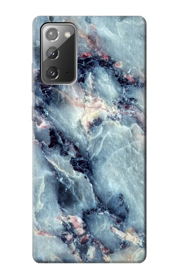 Printed Blue Marble Texture Samsung Galaxy Note 20 Case