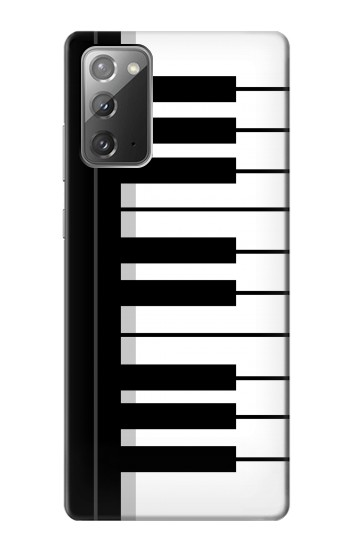 Printed Black and White Piano Keyboard Samsung Galaxy Note 20 Case