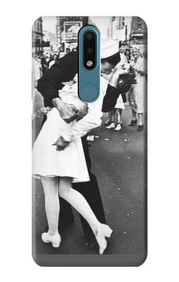 Printed The Famous Kiss Nokia 2.4 Case