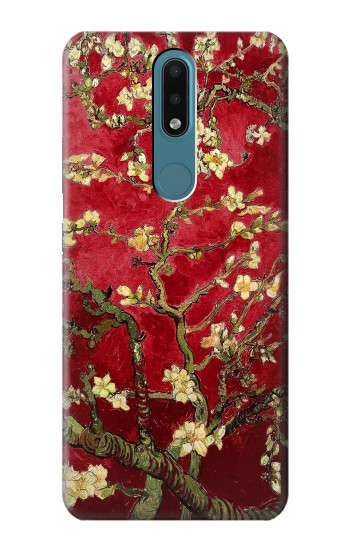 Printed Red Blossoming Almond Tree Van Gogh Nokia 2.4 Case