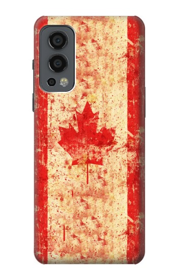Printed Canada Flag Old Vintage OnePlus Nord 2 5G Case