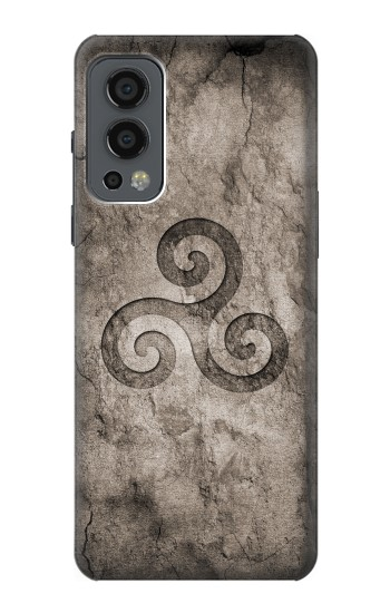 Printed Triskele Symbol Stone Texture OnePlus Nord 2 5G Case