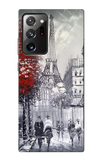 Printed Eiffel Painting of Paris Samsung Galaxy Note 20 Ultra Case