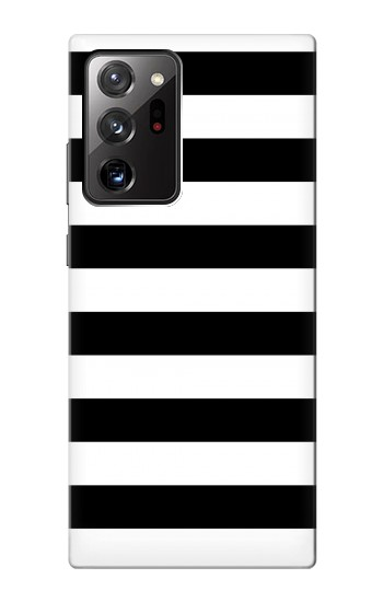Printed Black and White Striped Samsung Galaxy Note 20 Ultra Case