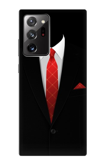 Printed Black Suit Samsung Galaxy Note 20 Ultra Case