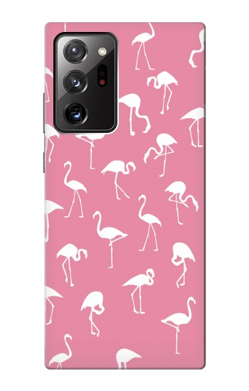 Printed Pink Flamingo Pattern Samsung Galaxy Note 20 Ultra Case