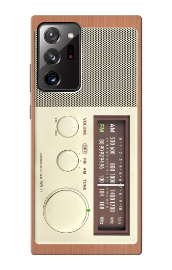 Printed FM AM Wooden Receiver Graphic Samsung Galaxy Note 20 Ultra Case