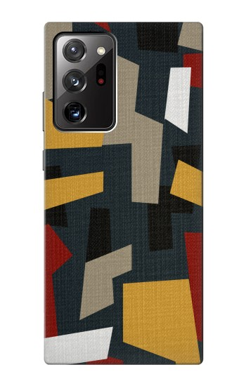 Printed Abstract Fabric Texture Samsung Galaxy Note 20 Ultra Case