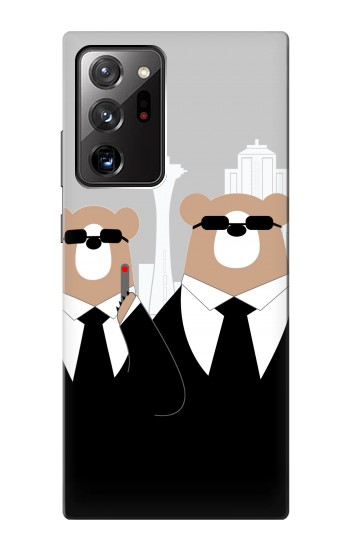 Printed Bear in Black Suit Samsung Galaxy Note 20 Ultra Case