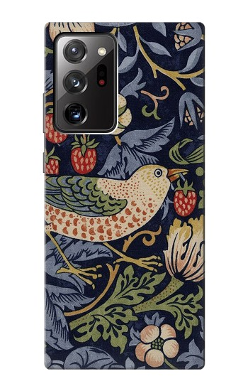 Printed William Morris Strawberry Thief Fabric Samsung Galaxy Note 20 Ultra Case