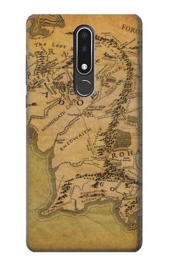 Printed The Lord Of The Rings Middle Earth Map Nokia 3.1 plus Case