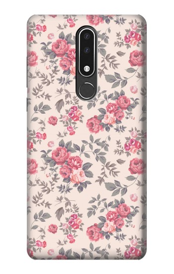 Printed Vintage Rose Pattern Nokia 3.1 plus Case