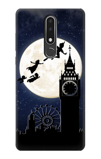 Printed Peter Pan Fly Fullmoon Night Nokia 3.1 plus Case