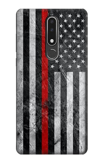 Printed Firefighter Thin Red Line American Flag Nokia 3.1 plus Case