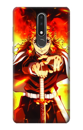 Printed Demon Slayer Kimetsu no Yaiba Kyojuro Rengoku Nokia 3.1 plus Case