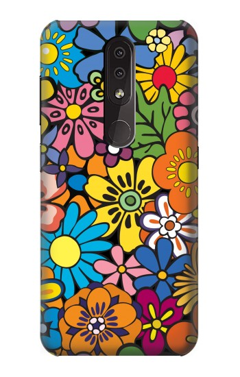 Printed Colorful Flowers Pattern Nokia 4.2 Case