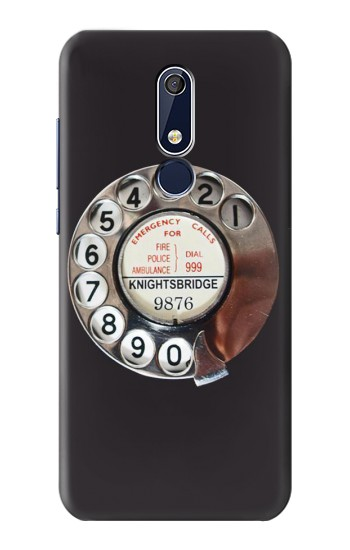 Printed Retro Rotary Phone Dial On Nokia 5.1 Case