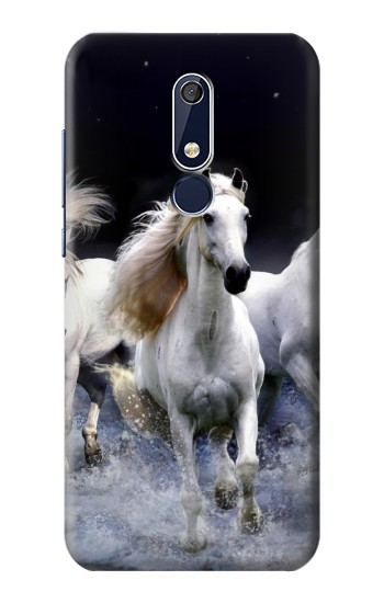 Printed White Horse Nokia 5.1 Case