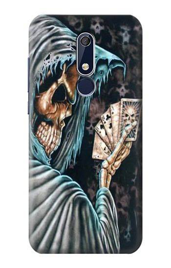Printed Grim Reaper Death Poker Nokia 5.1 Case