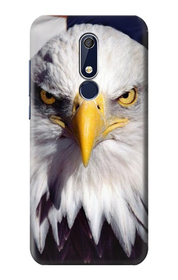 Printed Eagle American Nokia 5.1 Case