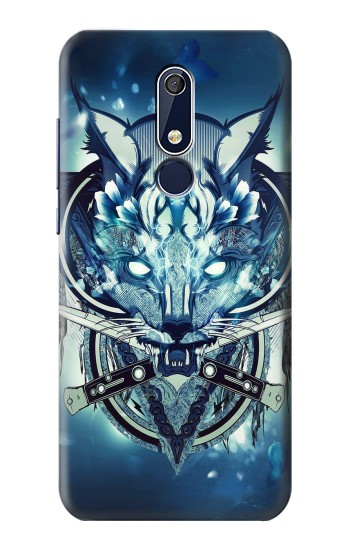 Printed Wolf with knives Rock Nokia 5.1 Case