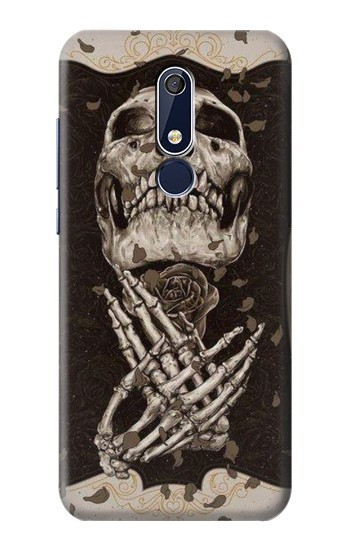 Printed Skull Rose Nokia 5.1 Case