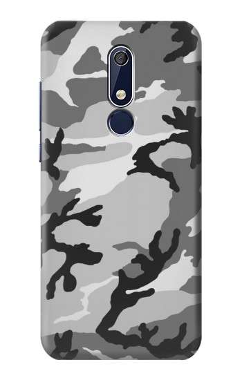 Printed Snow Camo Camouflage Graphic Printed Nokia 5.1 Case