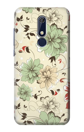 Printed Flower Floral Vintage Art Pattern Nokia 5.1 Case