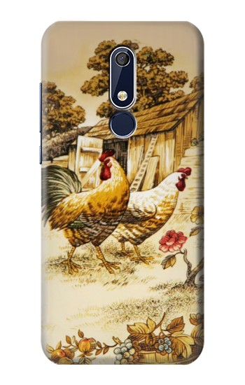 Printed French Country Chicken Nokia 5.1 Case