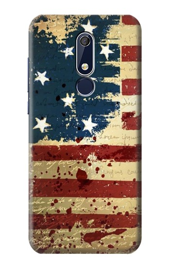 Printed Old American Flag Nokia 5.1 Case