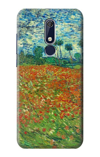 Printed Field Of Poppies Vincent Van Gogh Nokia 5.1 Case