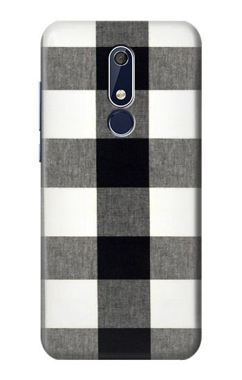 Printed Black and White Buffalo Check Pattern Nokia 5.1 Case